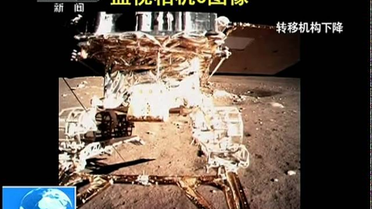 Video Of China's Jade Rabbit Rover Rolling On to the Moon's Surface