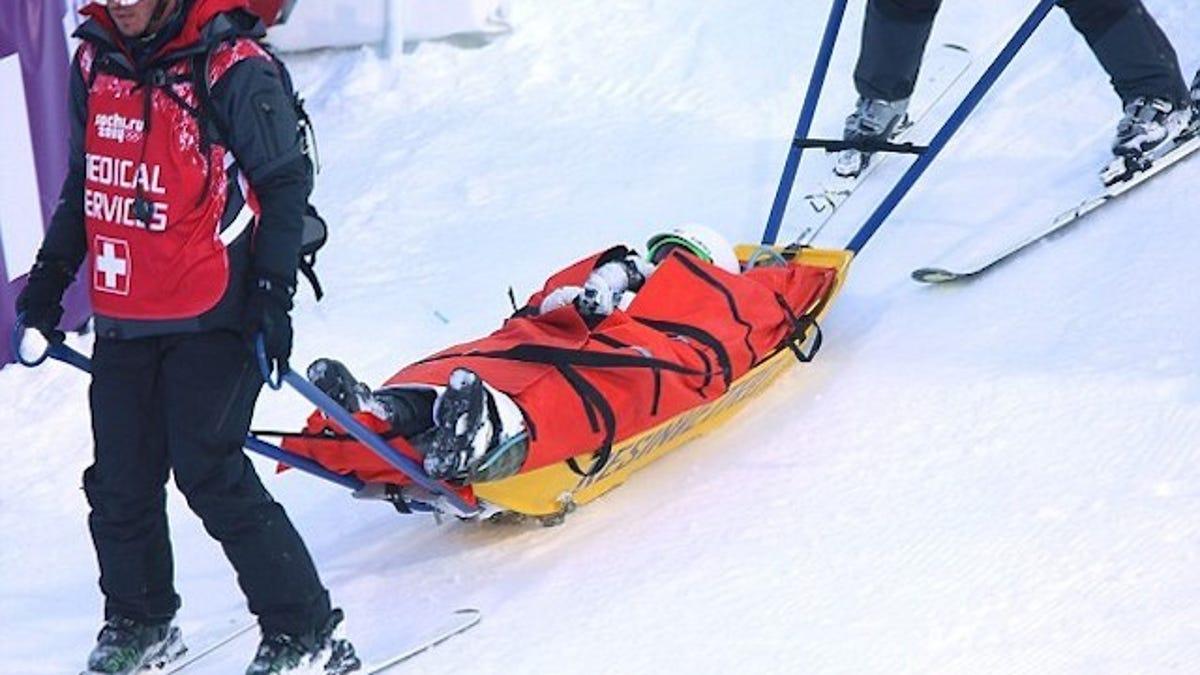 "Skier Shreds Knee In Practice, Asks Dad, ""Am I Still An Olympian?"""