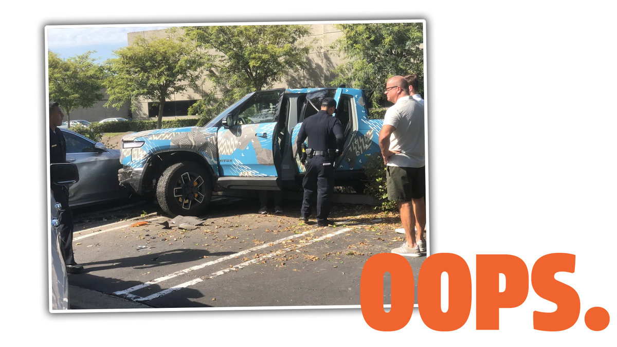 The First Rivian R1T Crash Has Happened And It's A Weird One