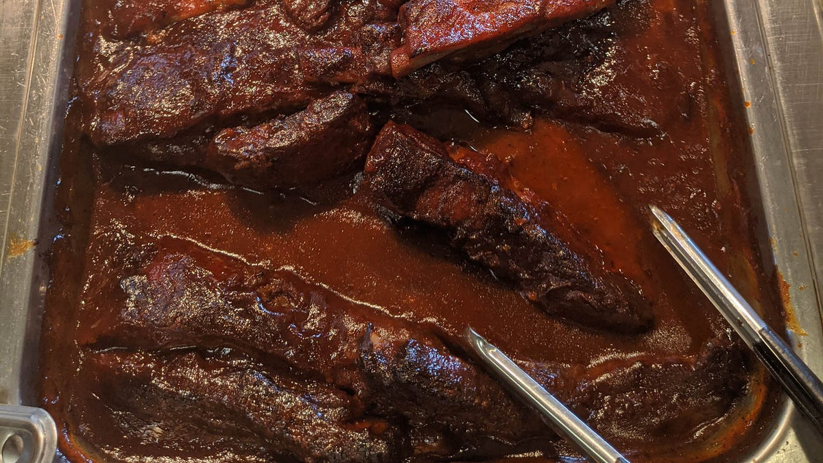Buffet Tongs Now Completely Submerged In Barbecue Sauce - the onion