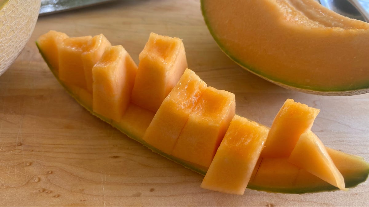 The Easiest Way to Peel a Cantaloupe