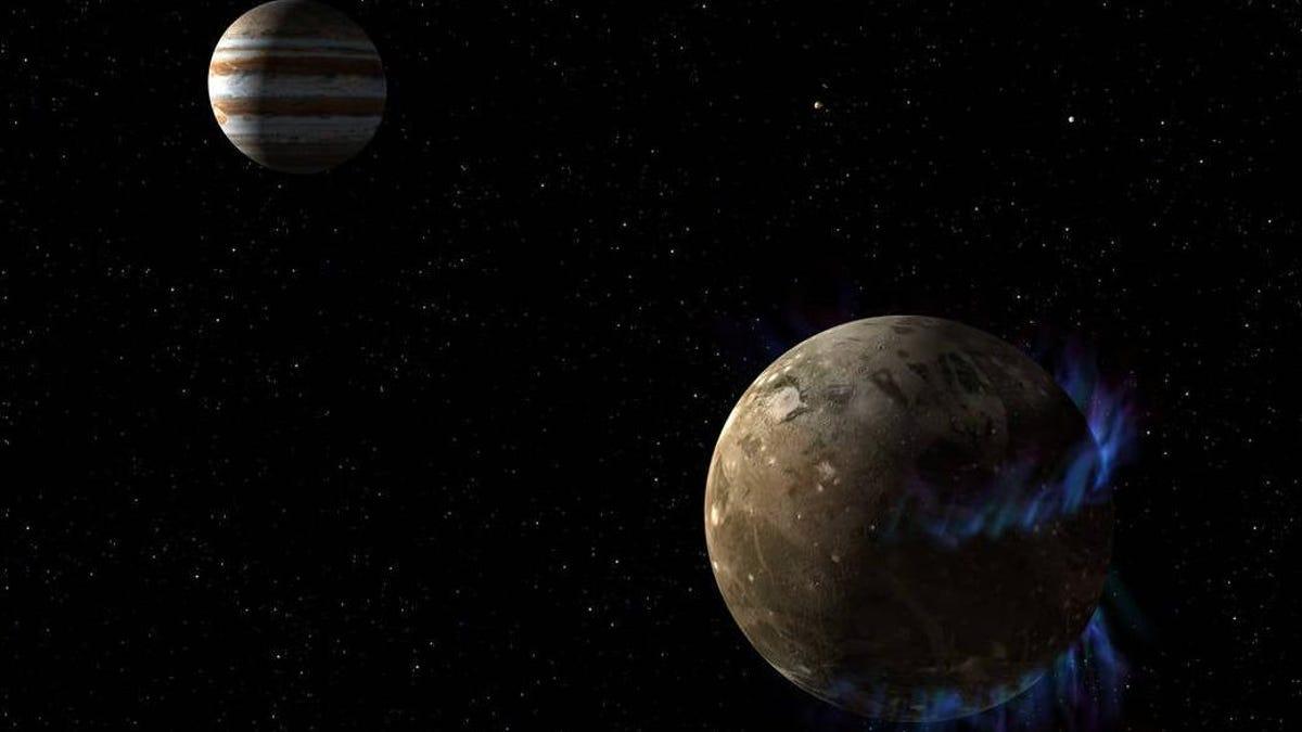NASA Spacecraft Has a Close Encounter with Jupiter's Moon Ganymede