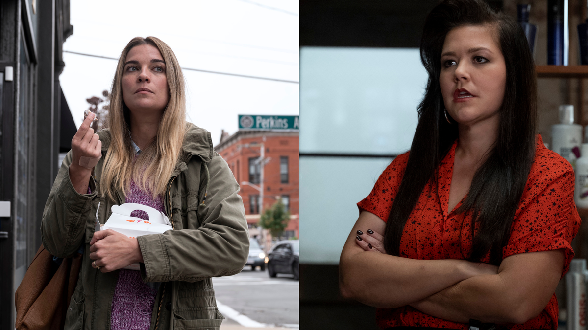 Annie Murphy, Mary Hollis Inboden on Kevin Can F***K Himself premiere