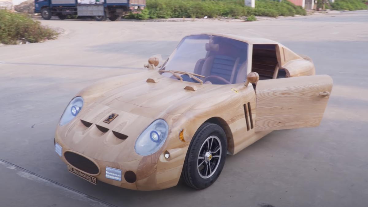 Dieser hölzerne Ferrari 250 GTO läuft und fährt tatsächlich