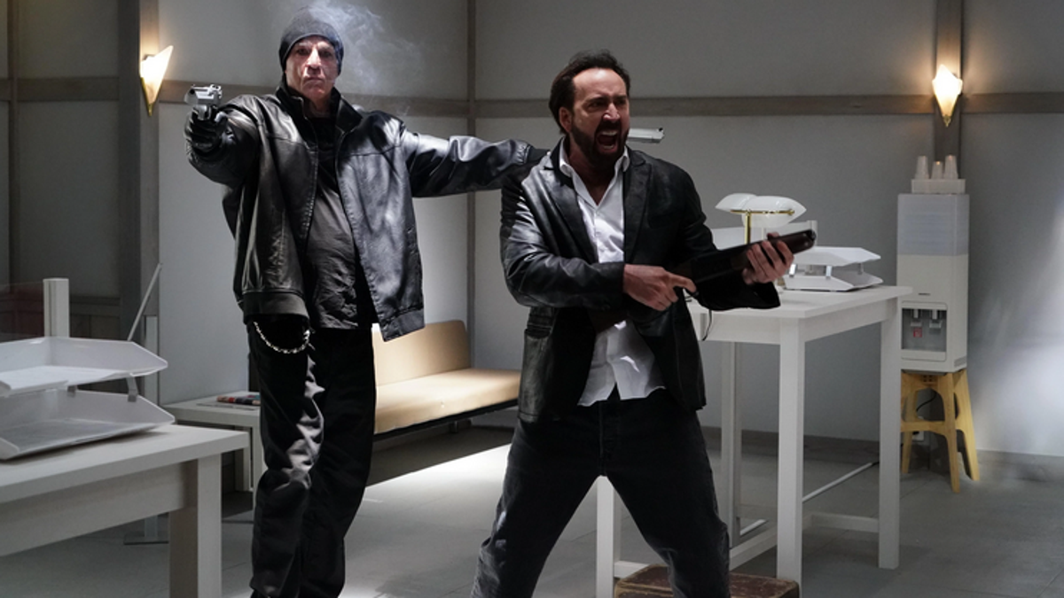 Nic Cage wears leather and ball-bombs in Prisoners Of The Ghostland trailer