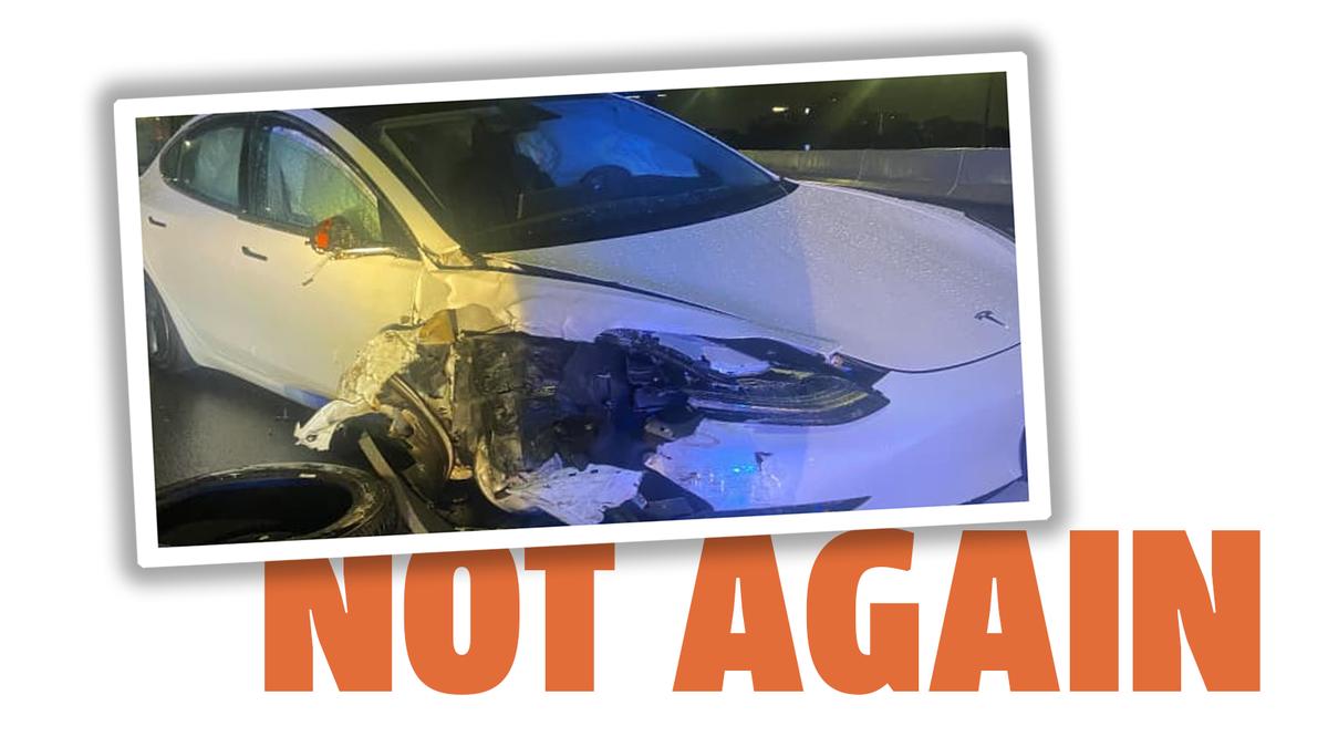Ein Tesla, der nach Angaben des Fahrers auf Autopilot war, krachte erneut in ein angehaltenes Polizeiauto.
