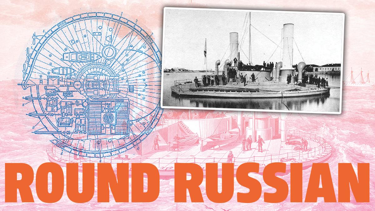 Russland baute einst ein sehr seltsames kreisförmiges Kriegsschiff