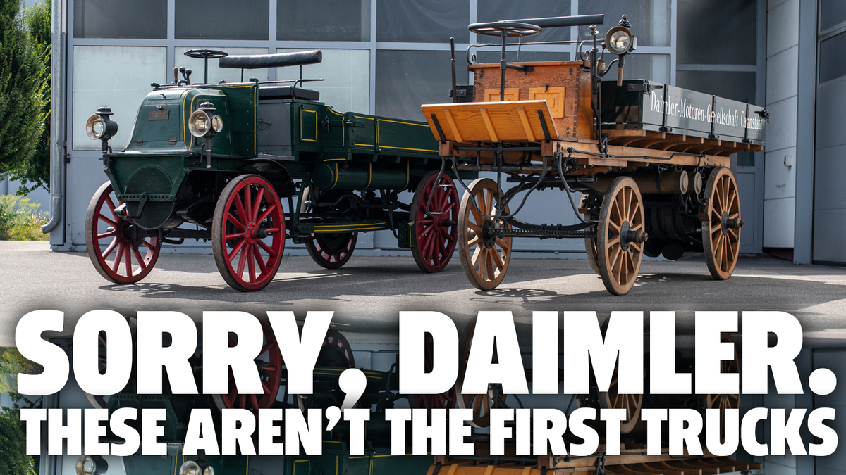 Daimler-Benz behauptet, den Lkw erfunden zu haben, aber das stimmt nicht