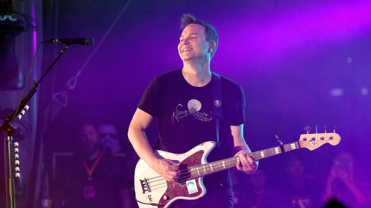 Mark Hoppus is at least feeling well enough to pick up his bass again