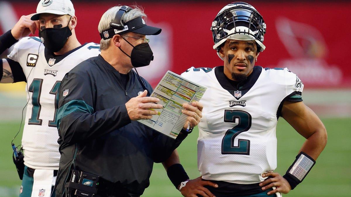 Doug Pederson says Eagles 'brought in Jalen Hurts not to undermine Carson Wentz' — sure, Jan