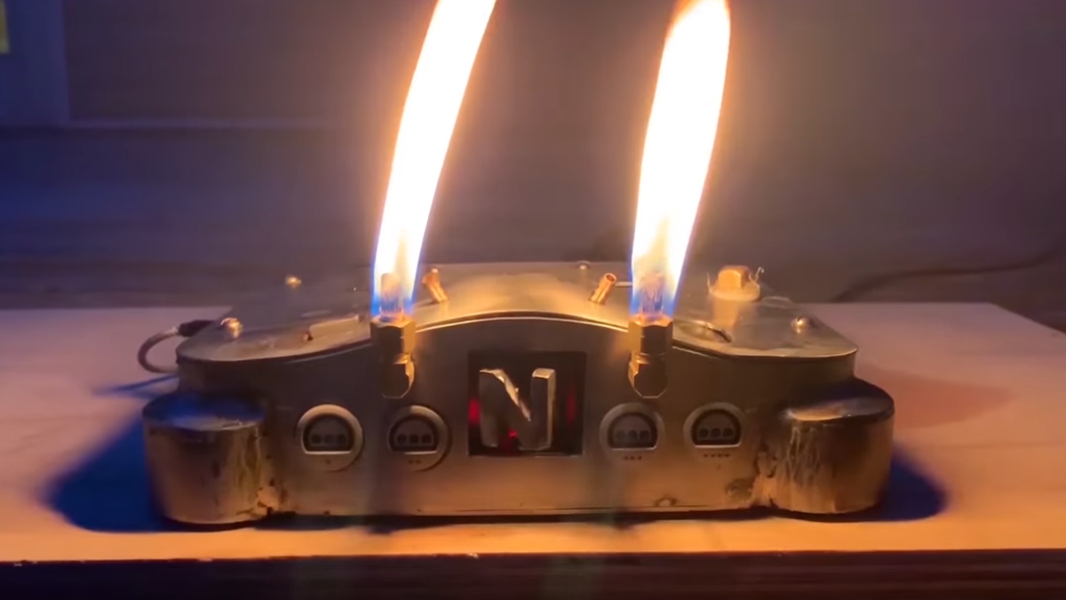 Behold: A Nintendo 64 that plays metal music and breathes fire