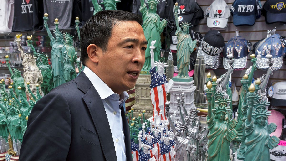 Andrew Yang Picking Up A Few Souvenirs On Way Back Home From New York Visit