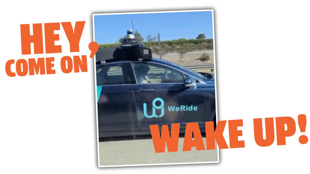 Professionelle AV-Sicherheitsfahrer schlafen auch am Steuer