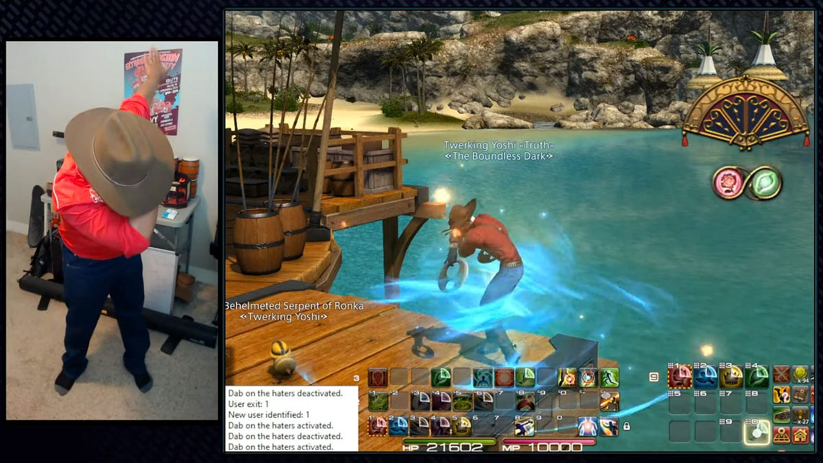 Final Fantasy XIV Player Literally Dabs On Boss With Kinect