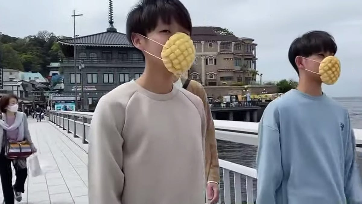 Masks Made From Melon Bread Released In Japan
