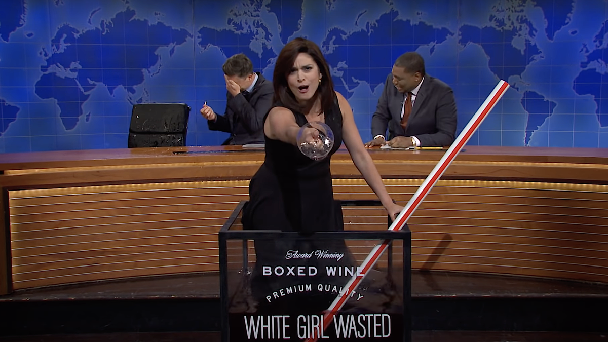 SNL and Cecily Strong toss one last glass of wine in the face of Fox News bigot Jeanine Pirro