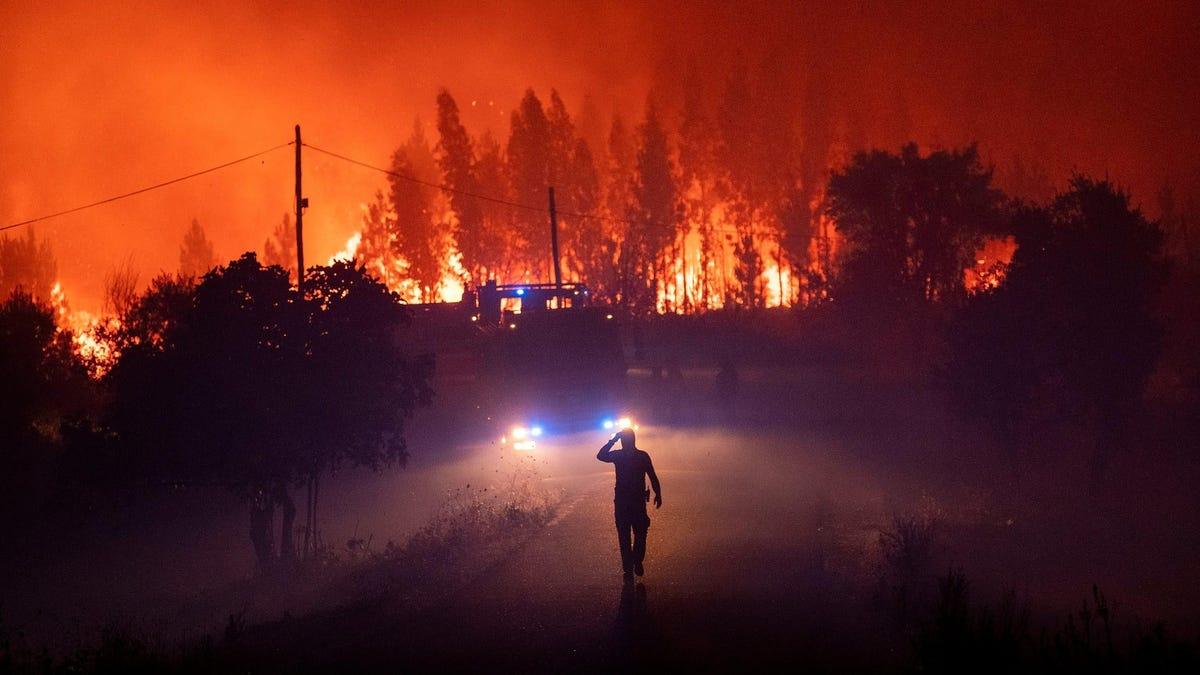 """""""Dar la vuelta no es una opción"""": la agónica huida entre las llamas de unos bomberos de un incendio en California"""