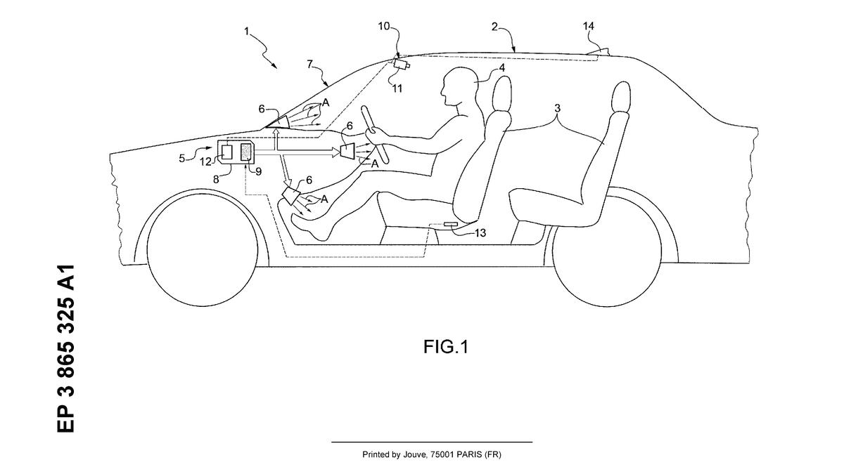 Ferraris patentiertes Klimakontrollsystem sieht irgendwie genial aus€