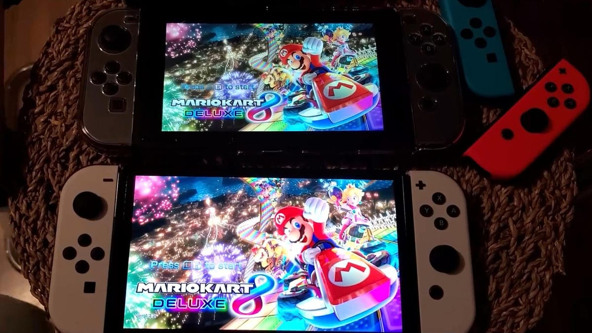 YouTubers Show Old Switch And New OLED Model Running Side By Side