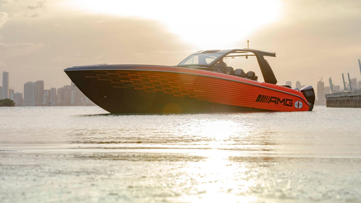 Mercedes-AMG And Cigarette Racing Having Collaborated To Create A 2,250-HP Boat