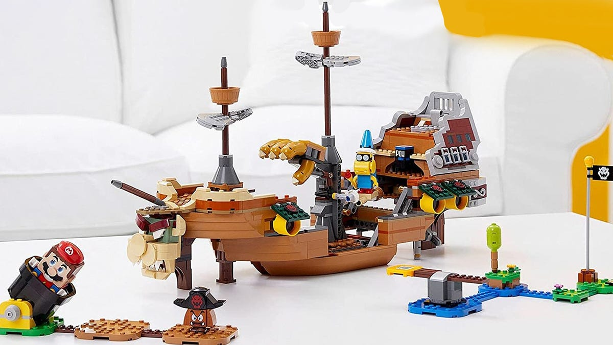 Lego Mario Leak Shows Massive Bowser Airship