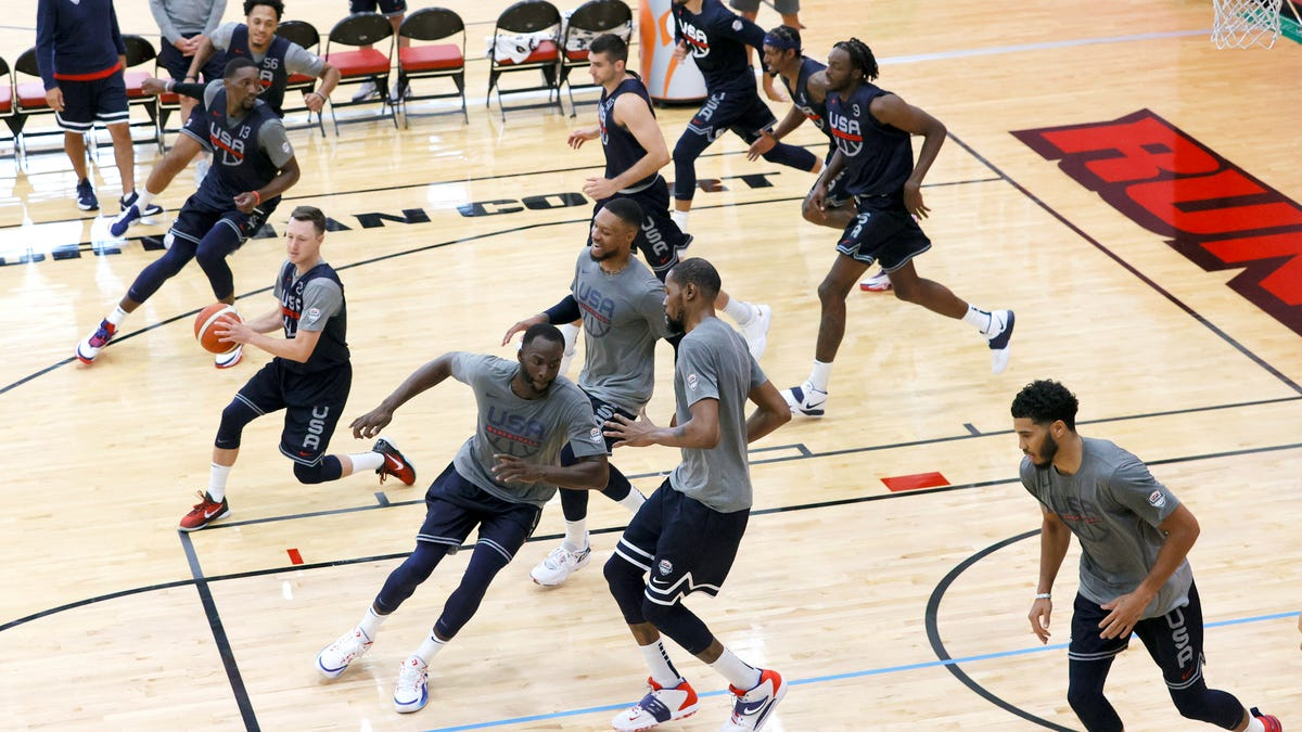 Team USA men's basketball begins gold medal chase with revenge on their minds