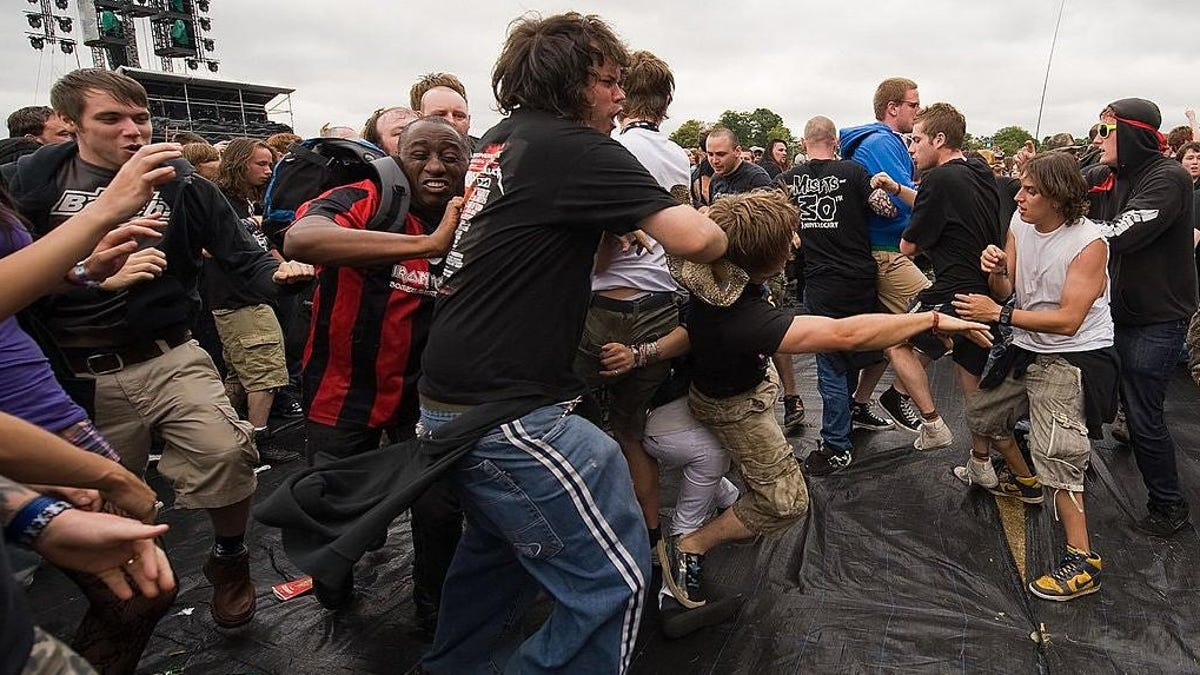 Fling yourself into a history of the mosh pit