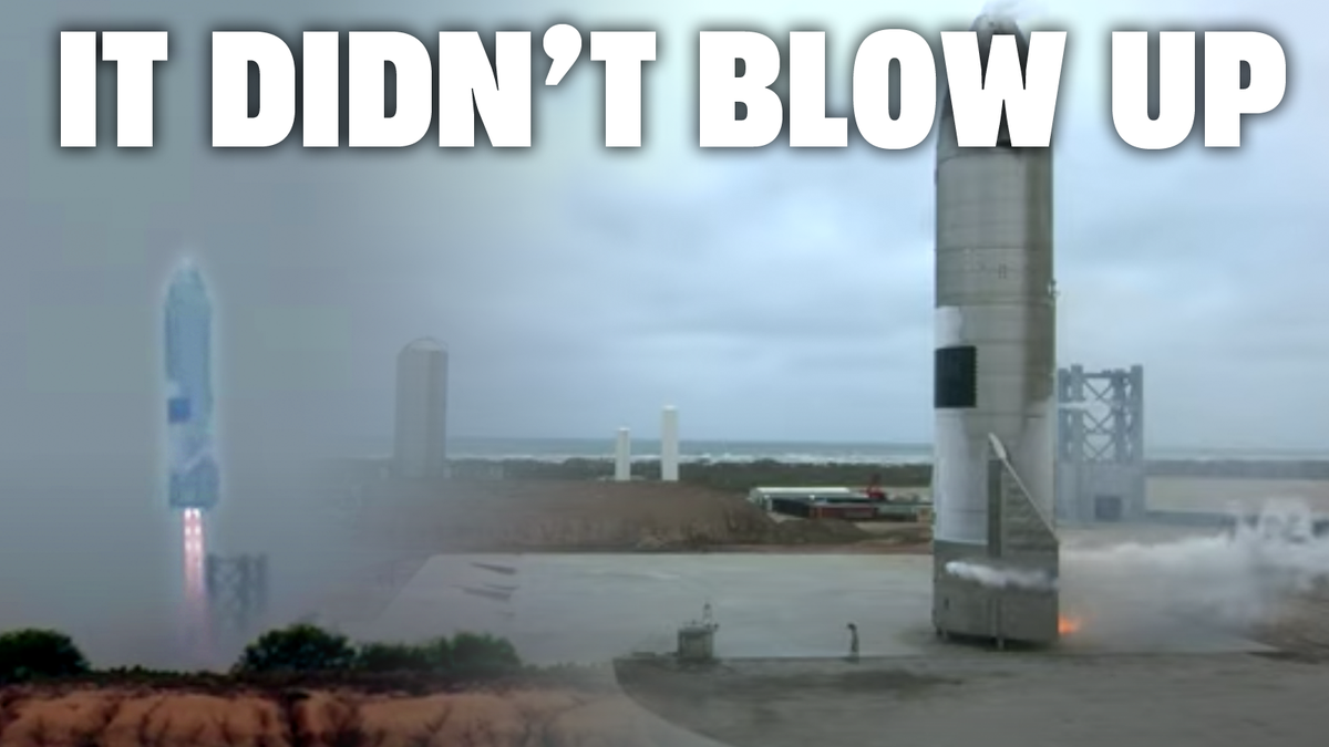 SpaceX Lands Prototype Starship Without It Blowing Up Even A Little Bit