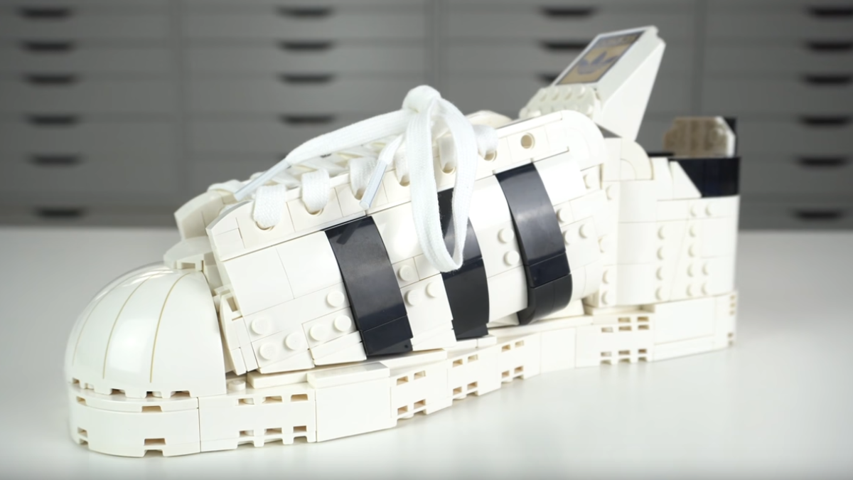 """Adidas monetizes """"stepping on Lego"""" with sneaker building kit"""