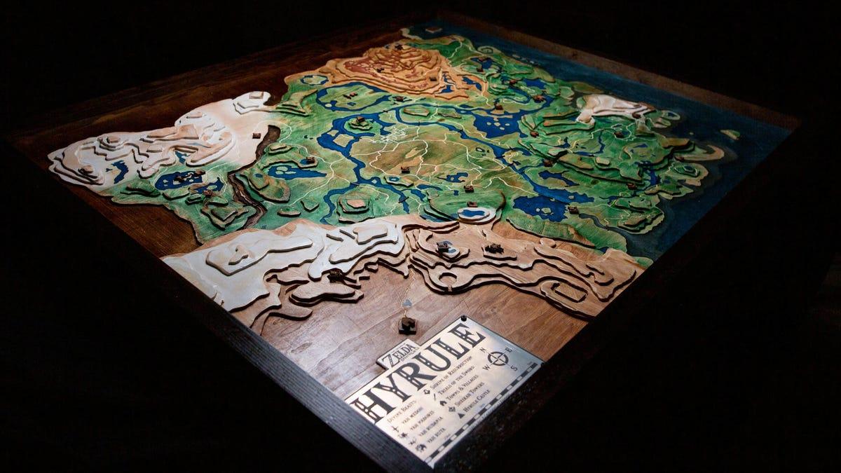 <i>Zelda </i>Fan Builds Enormous Wooden Map Of Hyrule