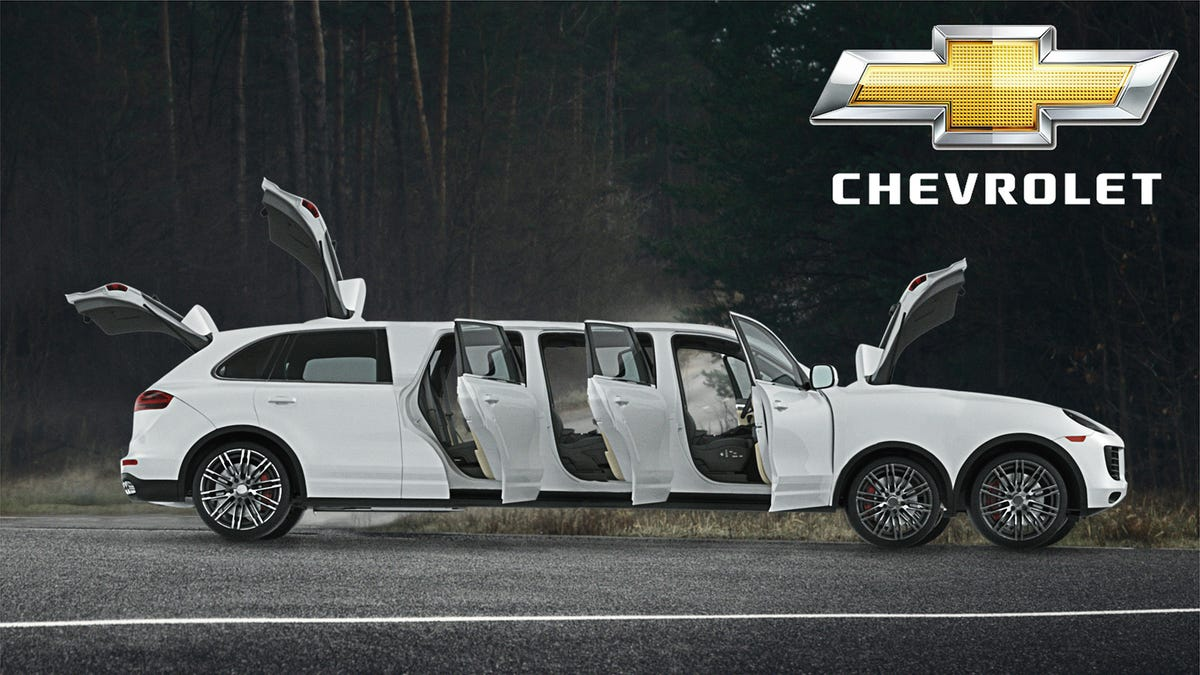 GM Ups Ante In SUV Race With New 14-Seat, 11-Door, 7-Wheel, 4-Trunk Chevy Teton