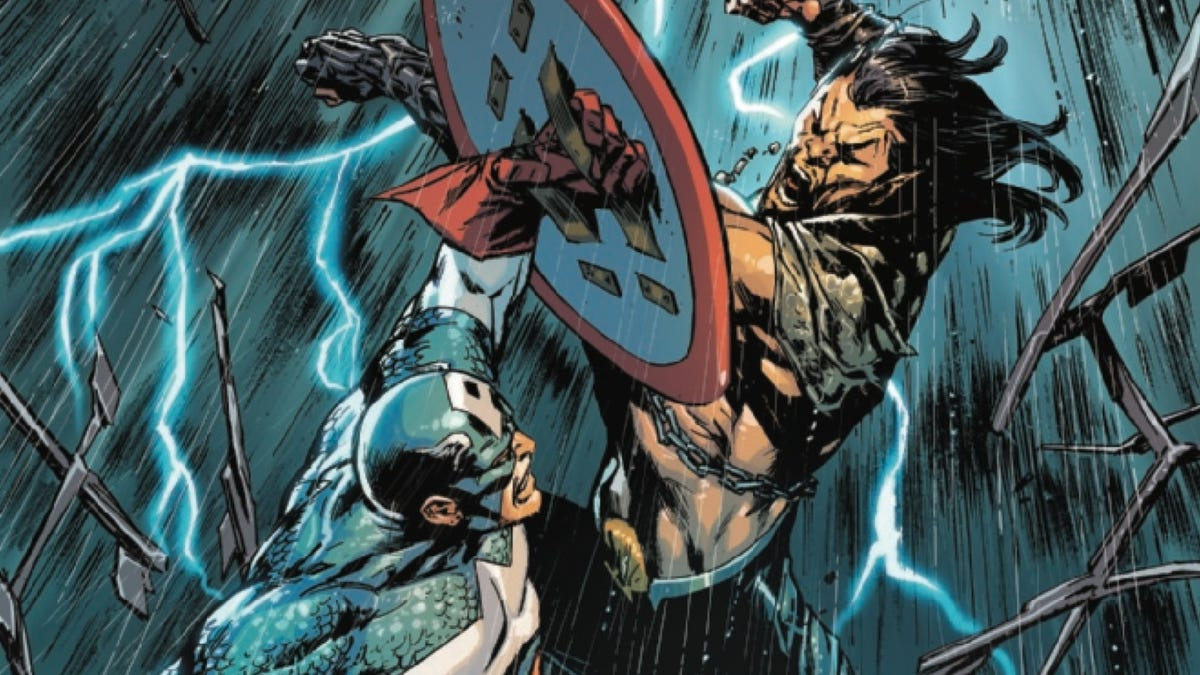 Captain America and Winter Soldier infiltrate Atlantis in this Invaders #10 exclusive
