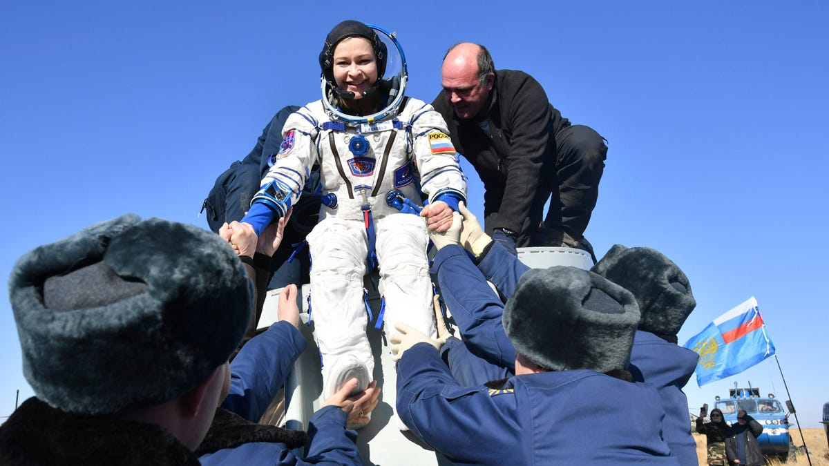 Russian Film Crew Returns to Earth Safely After 12 Days of Shooting on the ISS thumbnail