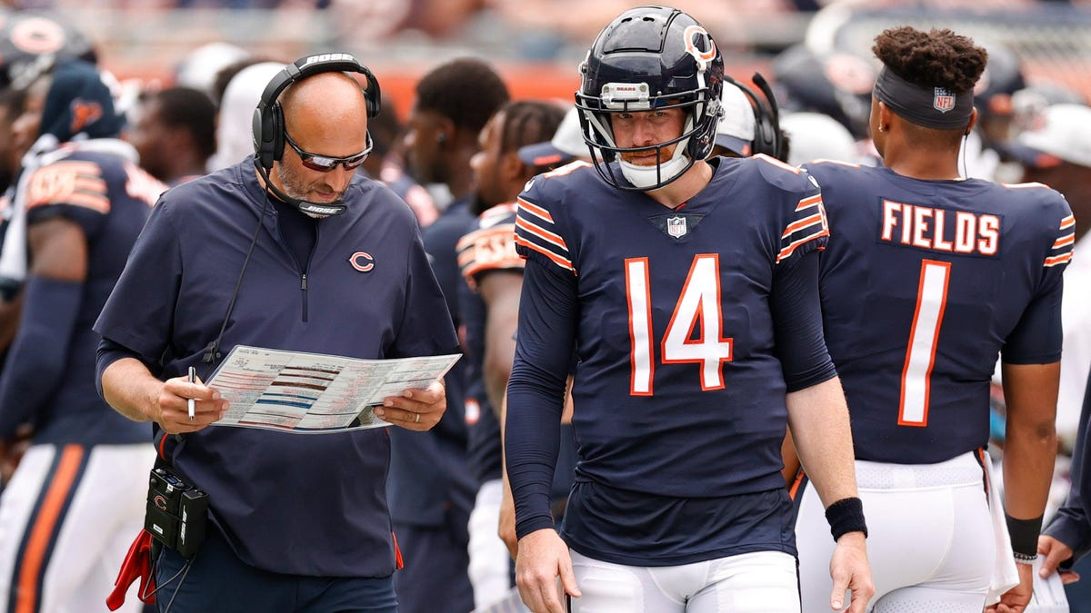 Is Matt Nagy trying to cover his ass by sticking with Andy Dalton?