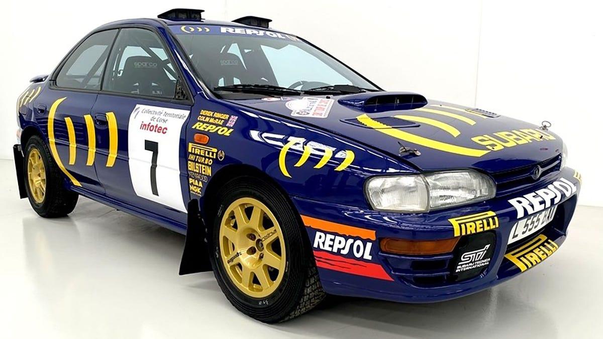 Colin McRaes Rallyeauto von 1996 steht nach 25 Jahren in einer Scheune zum Verkauf