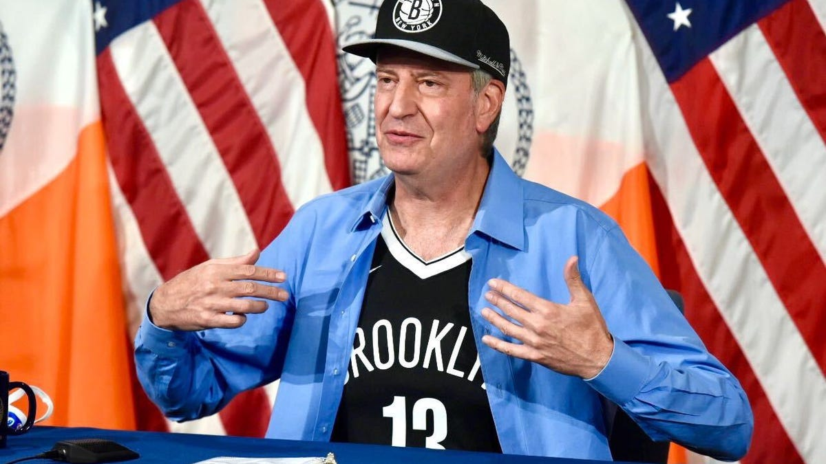 Get vaccinated and maybe this dingus will stop trying to look cool in a Nets jersey
