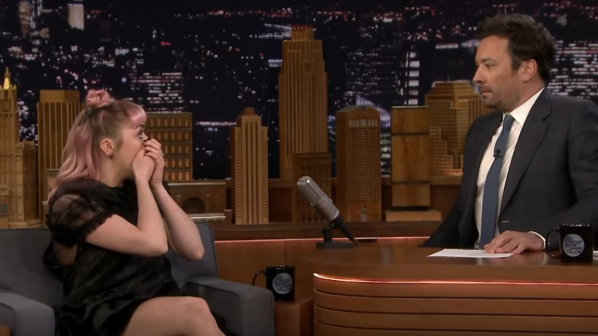Maisie Williams drops a massive Game Of Thrones spoiler, on the April 1 Tonight Show