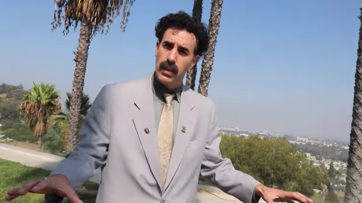Borat meets some Gen Z YouTube influencers, is very Borat about it