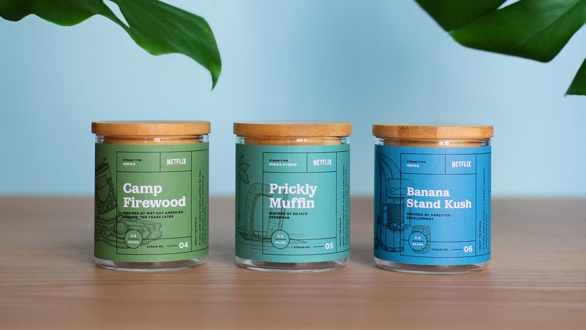 Netflix partners with dispensary for strains of weed based on 10 of its original series