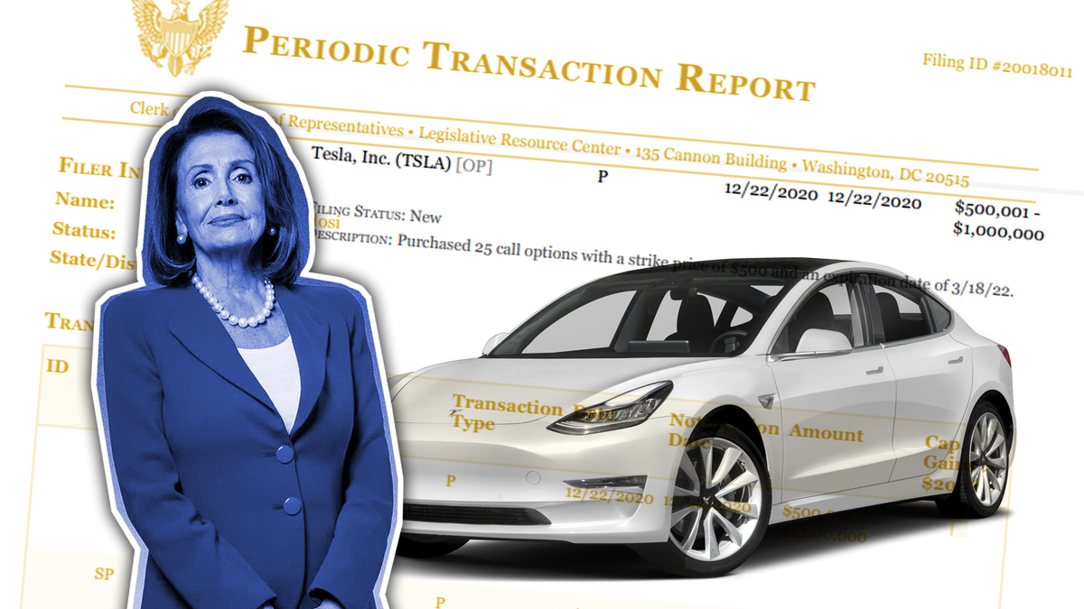 Nancy Pelosi Buying Tesla Stock Options Isn't Illegal, But It's Not Great, Either