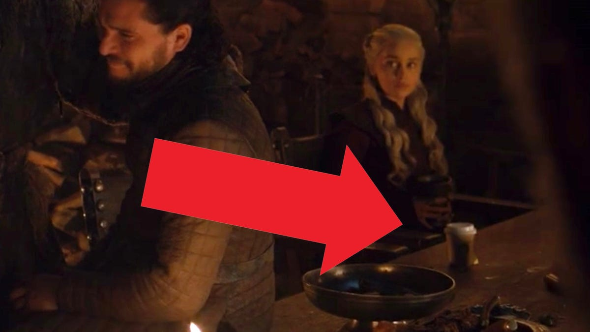 Game Of Thrones Accidentally Leaves Modern Coffee Cup On
