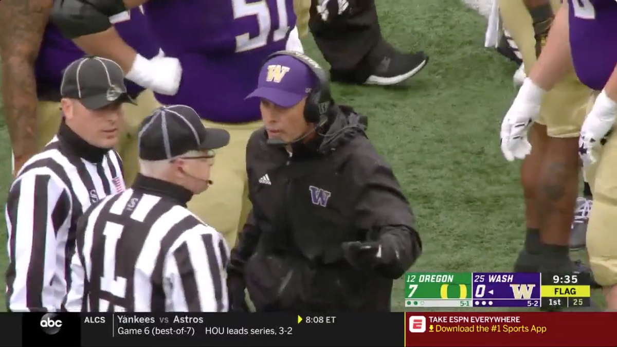 Washington Dealt Unsportsmanlike Conduct Penalty For Attempted Camouflage