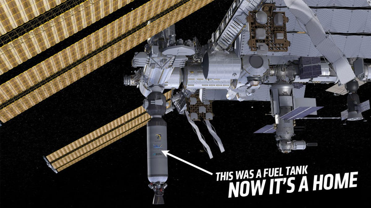 NASA Wants To Make Space Habitats From Orbiting Rocket Fuel Tanks
