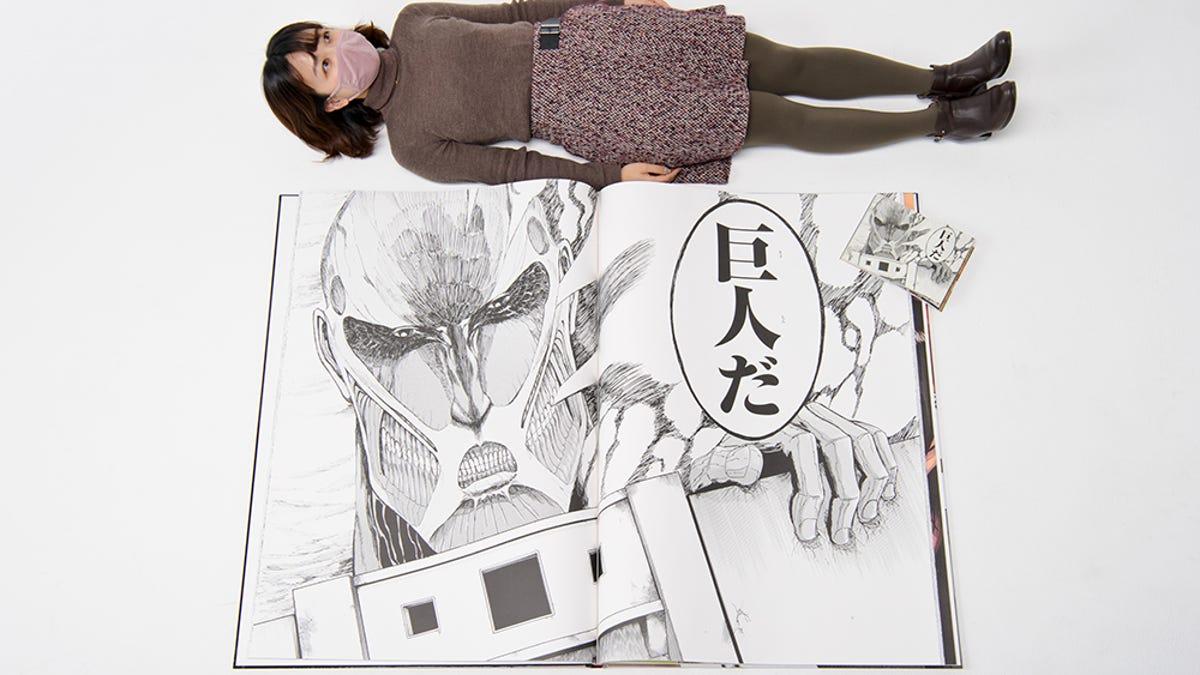 Lanzan un manga de Attack on Titan que pesa más de 13 kilos y cuesta 1200 euros
