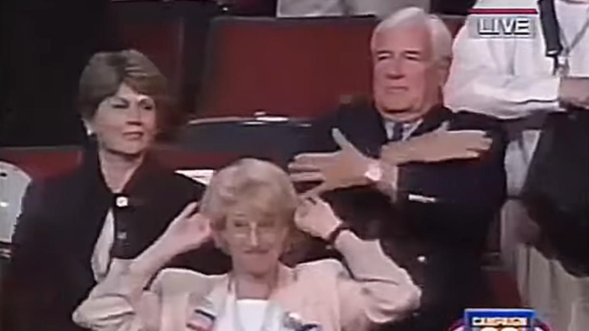 "25 years ago, the DNC danced the ""Macarena"""
