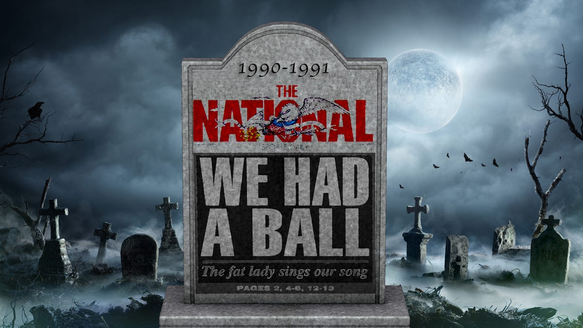 A 'NATIONAL' DISASTER: How wild, reckless spending sent this country's first and last sports daily to an early grave — from someone who was there