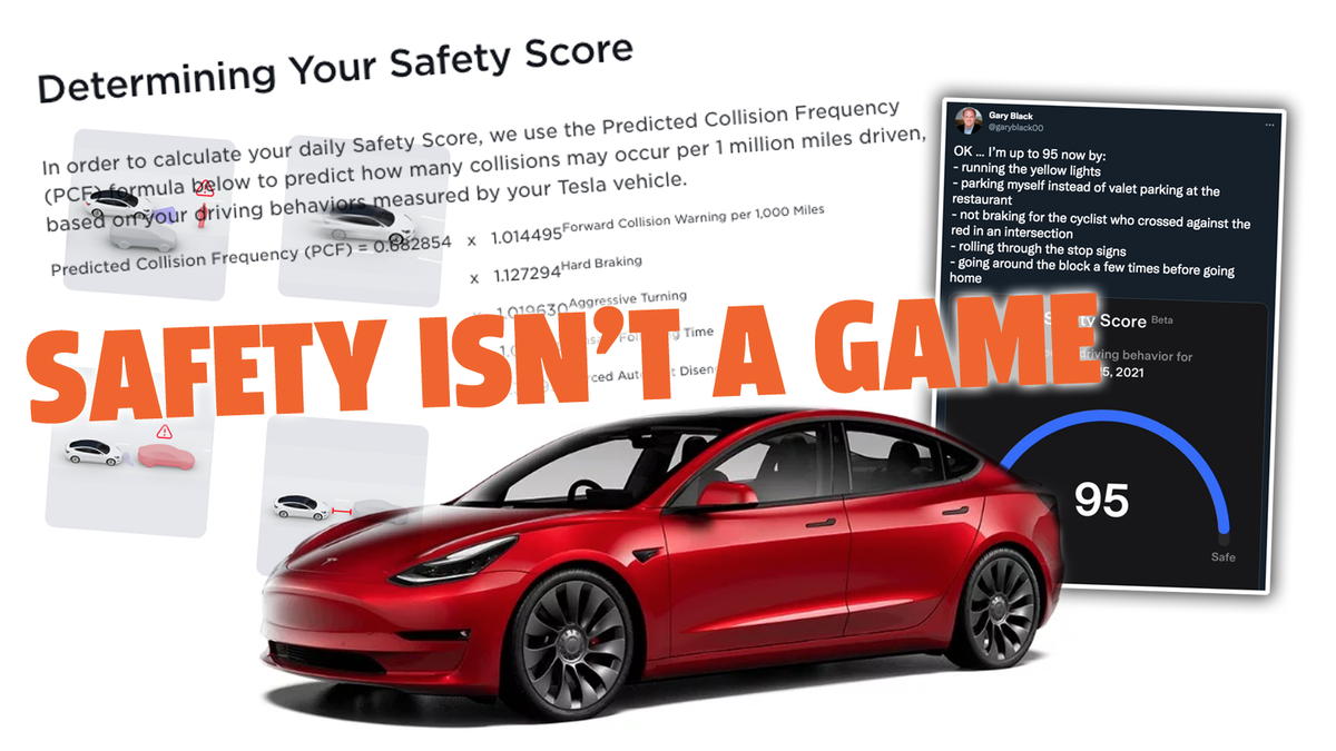 Tesla Is Now Ranking Drivers With A 'Safety Score' And Of Course It's Already Going Weird