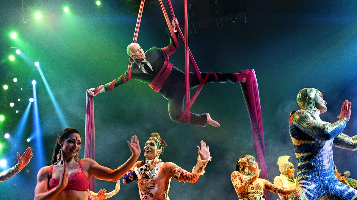 Panicking Aides Finally Locate Biden At Wrong Venue Following Cirque Du Soleil Performers Onstage