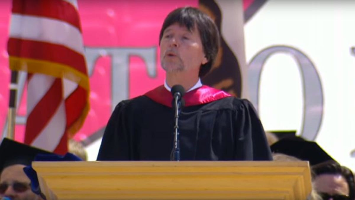 Ken Burns delivers anti-Trump speech not set to montage of still images