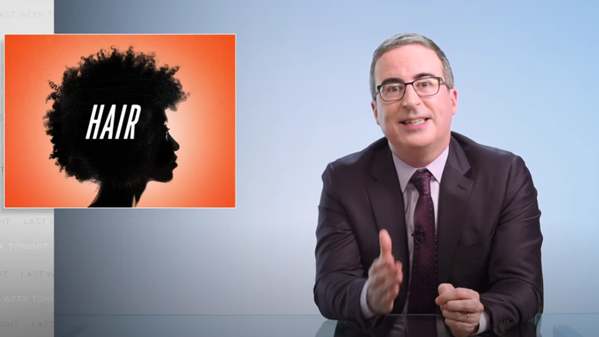 John Oliver Tackles the Importance of Black Hair on Last Week Tonight—And He Does a Surprisingly Decent Job
